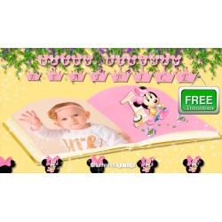 Minnie Mouse Baby Girl Beatrice Happy Birthday / Transitions Free Minnie Mouse