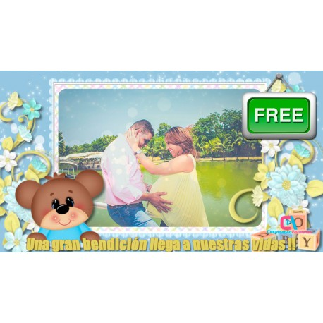 Baby Boy Digital Shower Invitation Proshow Producer
