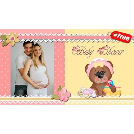 Digital Baby Shower Invitation for Girl Proshow Producer