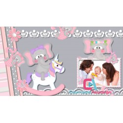Pink Elephants -  Happy Birthday DIGITAL INVITATION Project Proshow Producer
