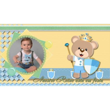 Animated Invitation Happy Birthday Baby Boy Bear