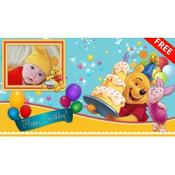 Animated Invitation Winnie the Pooh 1st Birthday