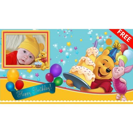 Animated Invitation Winnie the Pooh 1st Birthday