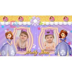Animated invitation Happy birthday Princess Sofia for Whatsapp Proshow Producer 9