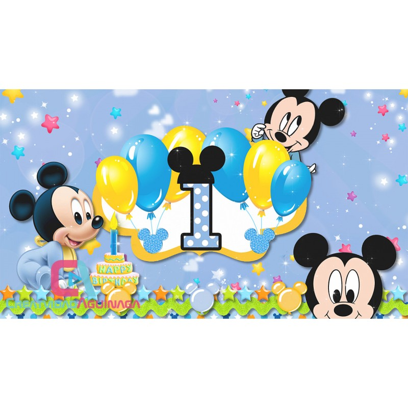 Feliz Cumpleanos Video Animado.Animated Invitation Happy Birthday Mickey Mouse Baby Boy