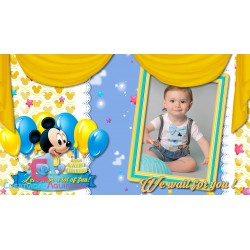 Mickey Mouse Baby Boy / Animated Invitation Happy Birthday