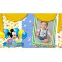 Mickey Mouse Baby Boy / Animated Invitation Happy Birthday