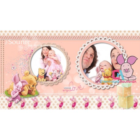 Baby Photo Album Winnie The Pooh and Piglet /  Project  Proshow Producer