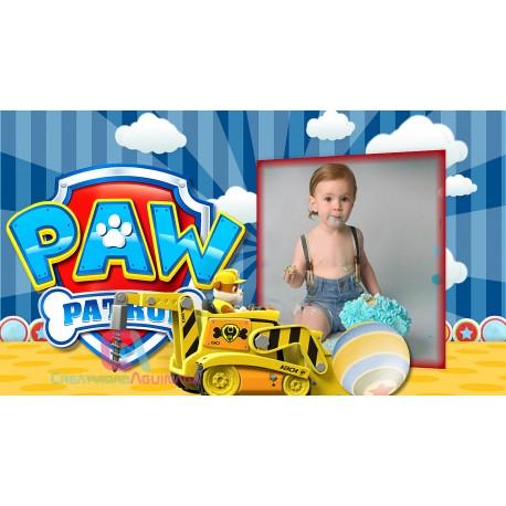 The perfect album for your baby CONVITE ANIMADO PATRULHA CANINA
